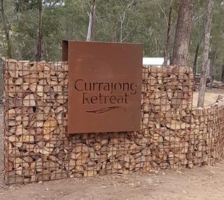 Currajong Retreat Laser cut signage