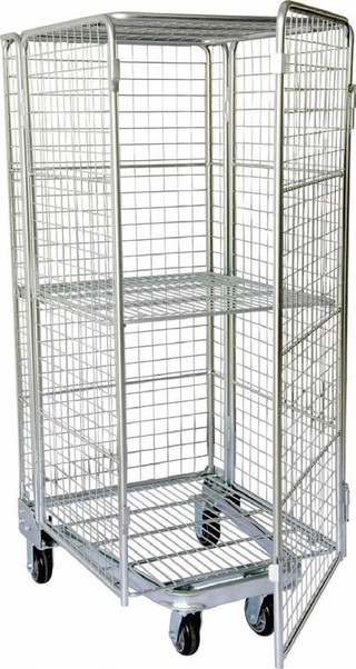 Chromed Woolworths custom made steel wire trolley