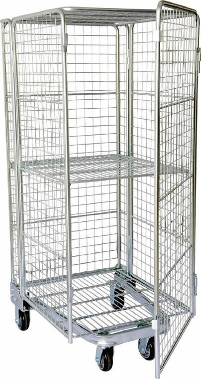 Chromed Woolworths custom made steel wire trolley