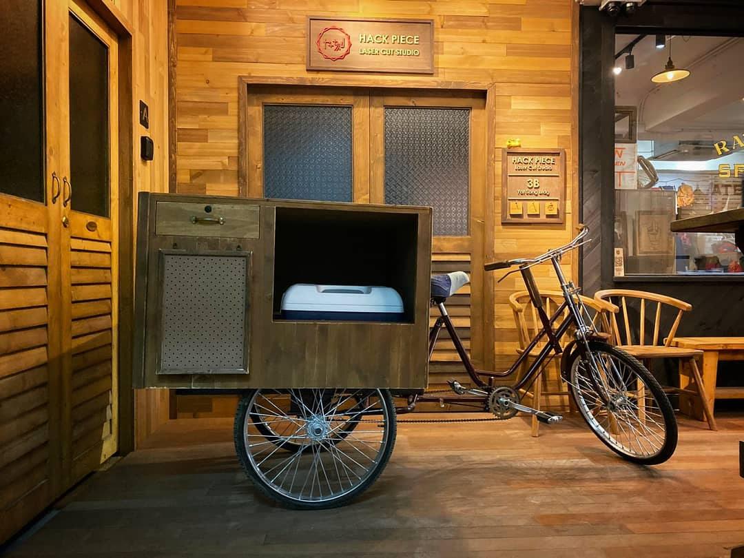 Coffee Cart with Bike