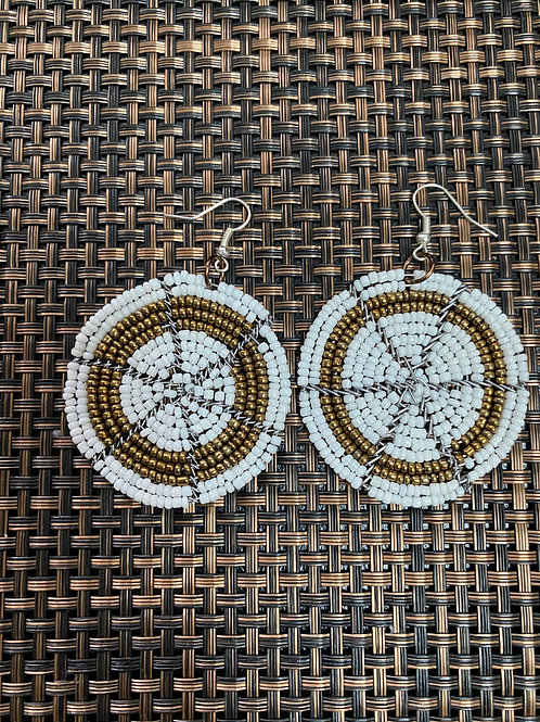 African Hand Made Beaded Earrings
