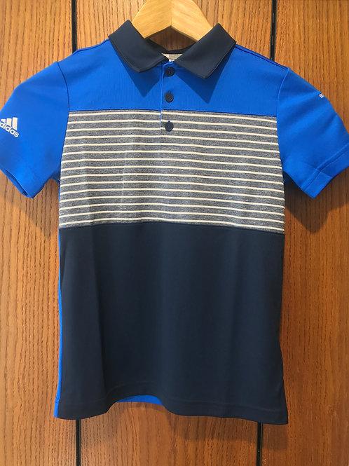 Adidas Junior Stripe Polo Shirt - Navy