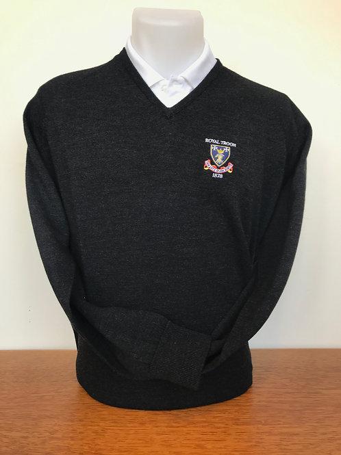 Slaith Merino V-Neck Sweater - Charcoal