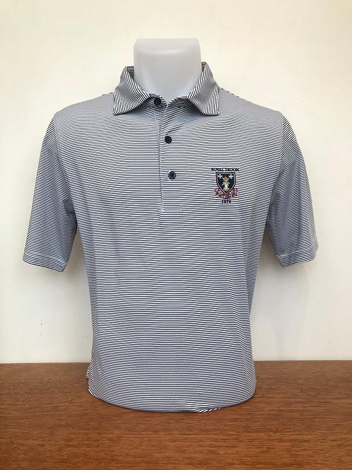 Royal Troon Stripe Logo Shirt - White/Navy