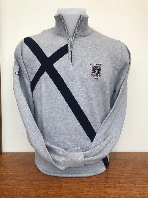 Royal Troon Saltire Sweater - Grey