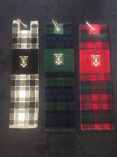 Royal Troon Tartan Tri Fold Towel