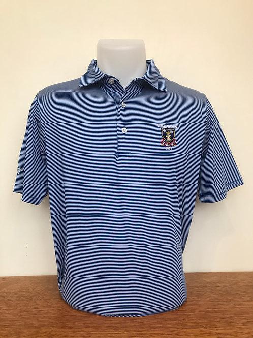 Royal Troon Stripe Logo Shirt