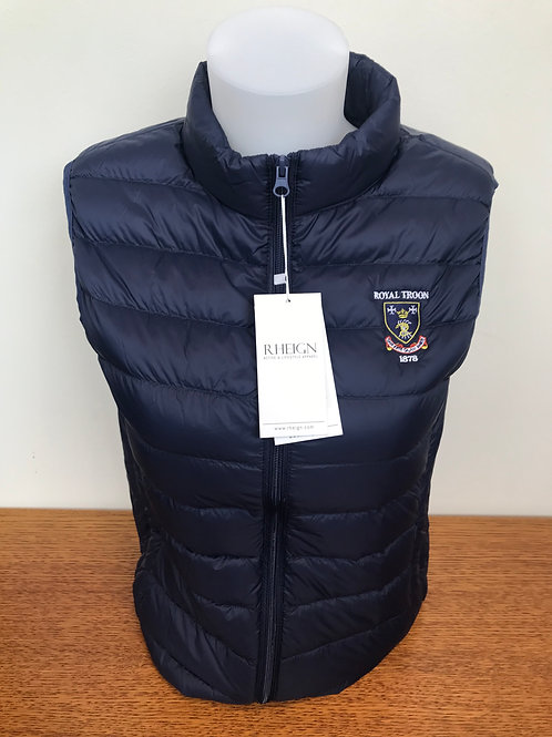 Rheign Royal Troon Feather Down Gilet Navy