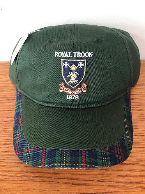 Royal Troon Tartan Trim Cotton Cap