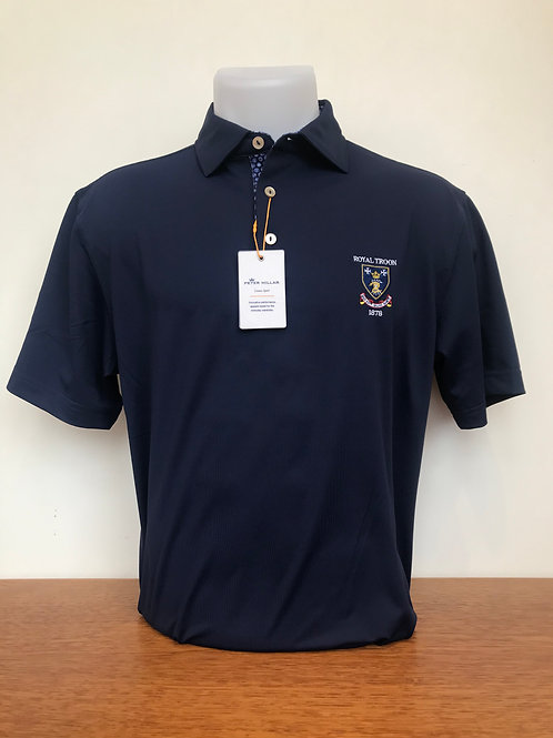 Peter Millar Navy Printed Collar