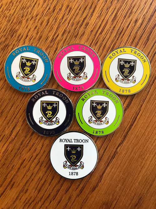 Royal Troon Large Double Sided Ball Marker