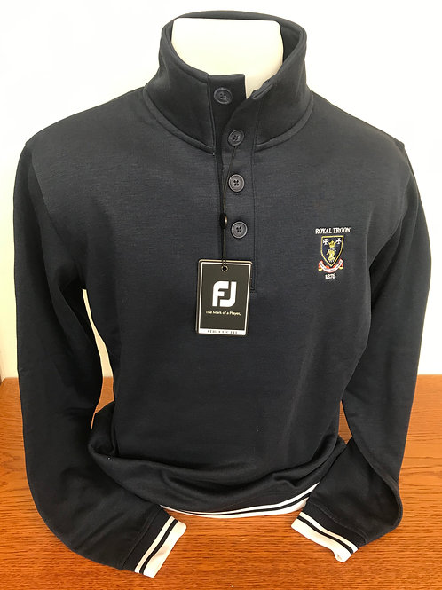 Footjoy Button Down Navy - Small