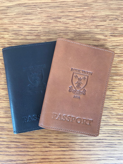 Links & Kings Leather Passport Holder