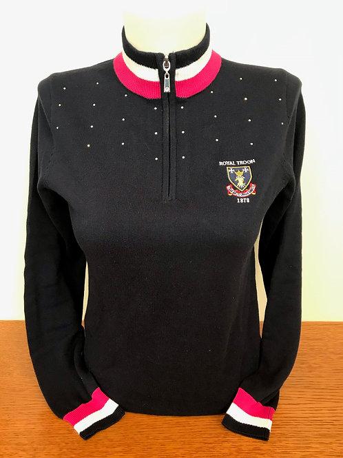 Ladies Gaelle Diamonte Sweater - Navy