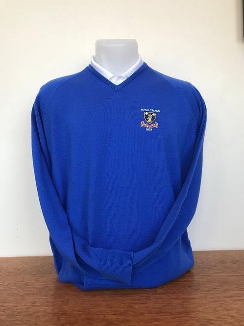 Slaith Merino V-Neck Sweater - Royal