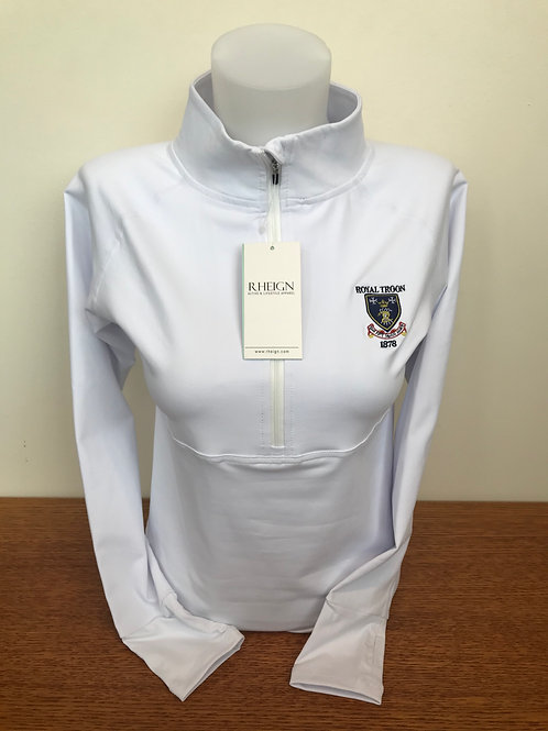 Rheign Royal Troon Half Zip White