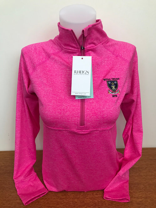 Rheign Royal Troon Half Zip Pink Marl