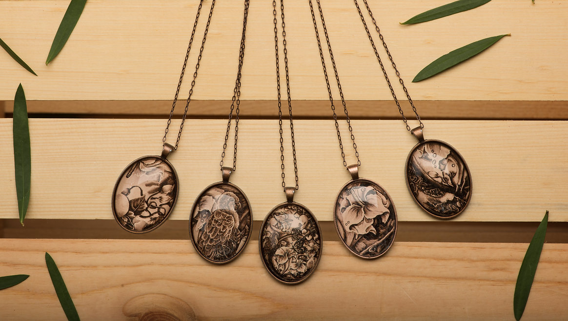 All Sepia necklaces.jpg