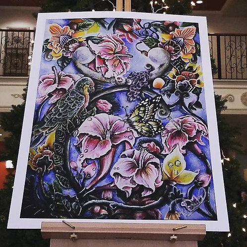 Blooming Strings Painting (PRINT)