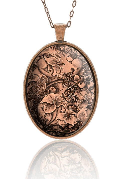 Full Blooming Strings Pendant (Sepia)