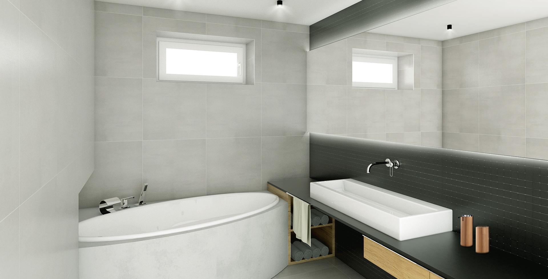 vizualizace: koupelna s vanou