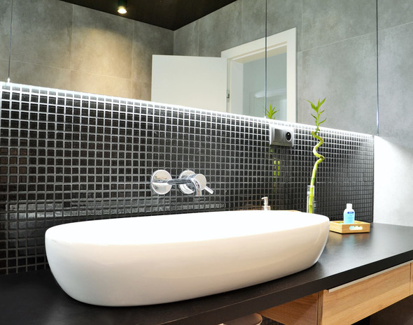 fotografie realizace: koupelna - umyvadlo