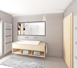 Návrh interiéru koupelny
