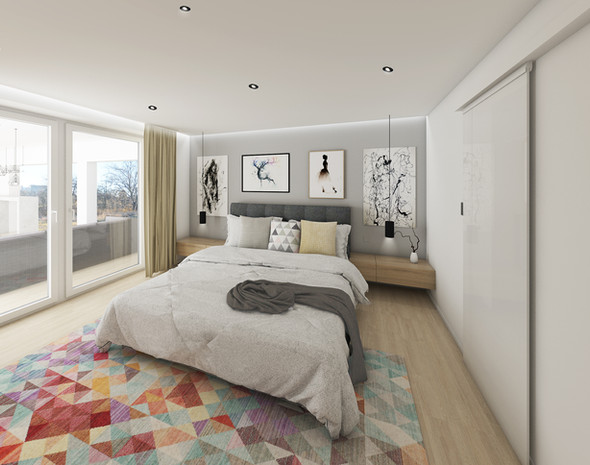 vizualizace: ložnice