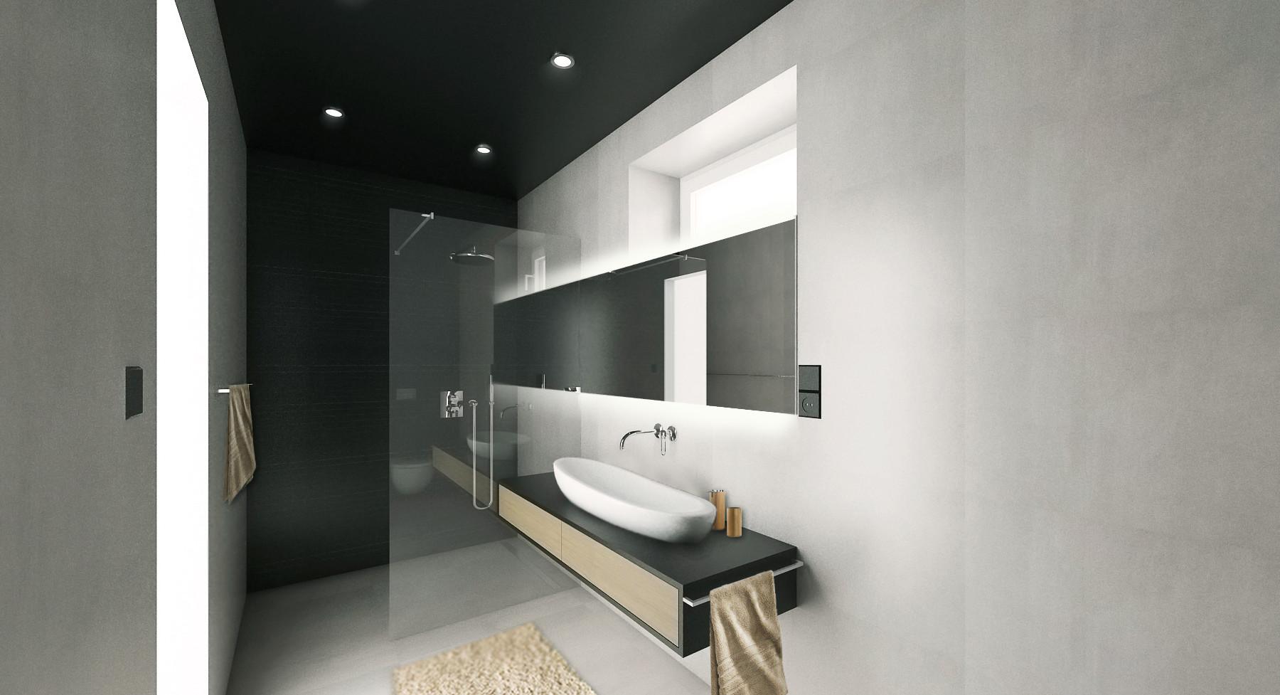 vizualizace: koupelna se sprchou