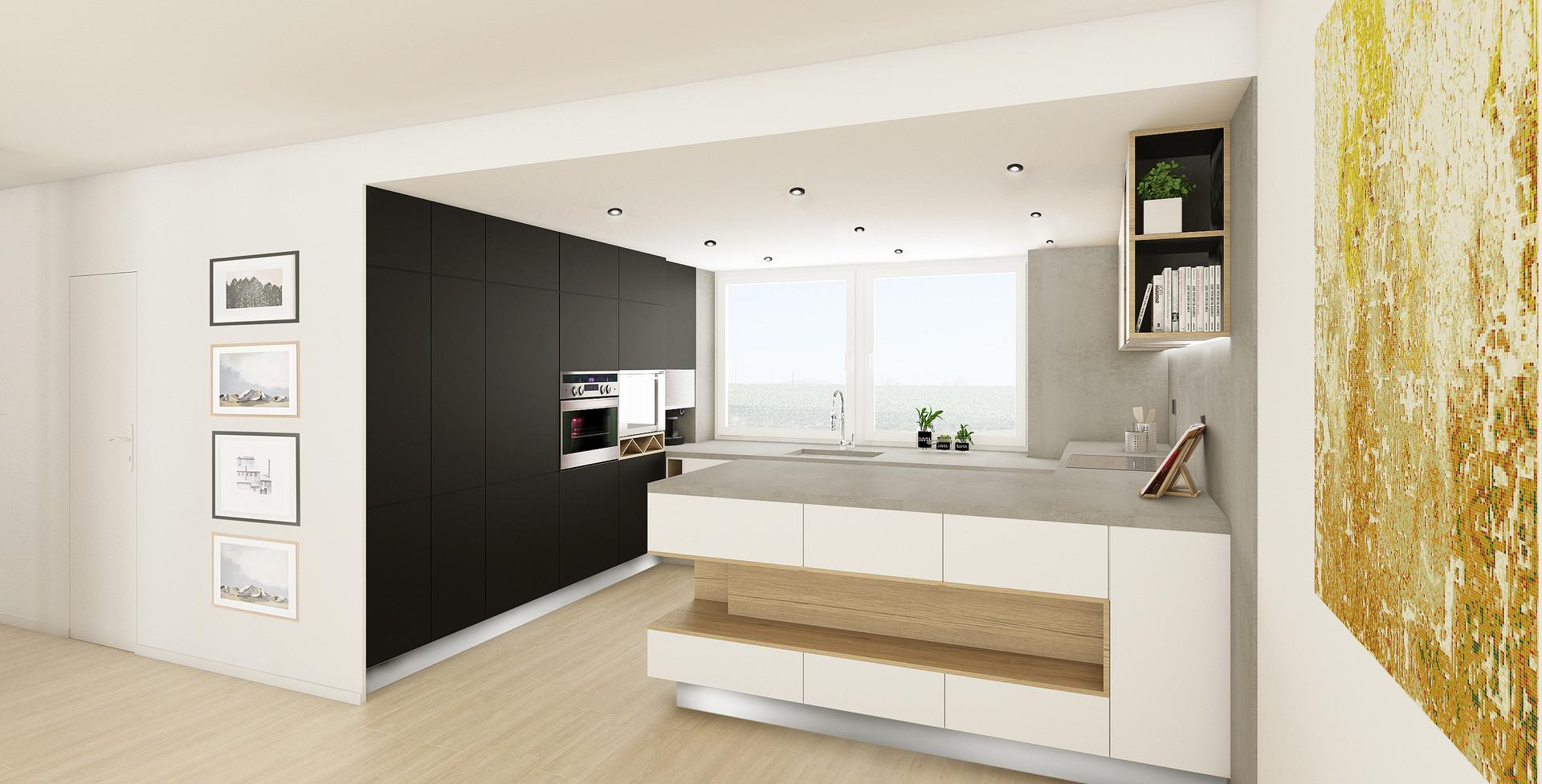vizualizace: kuchyně