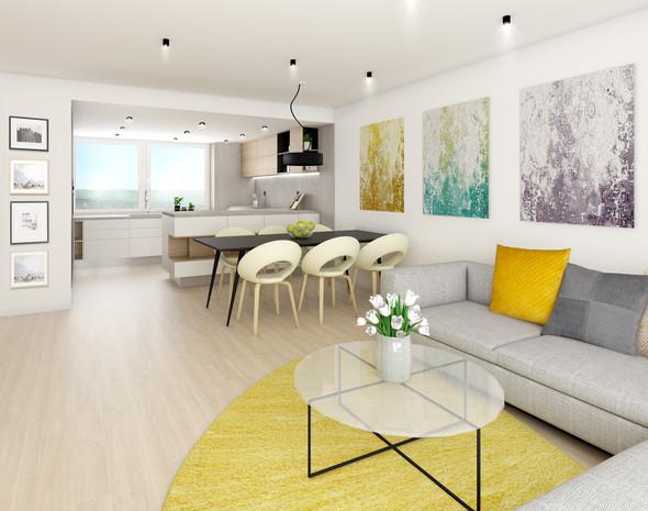 vizualizace: obývací pokoj