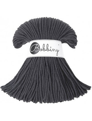 Bobbiny BRAIDED CORD 100M - Charcoal