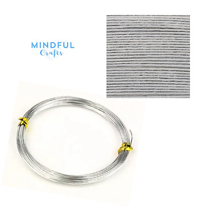 Knitted Wire word wall art refill pack - Silver grey