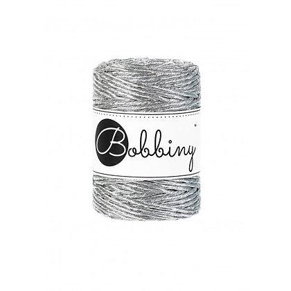 Bobbiny Single Twist Metallic Silver 3mm cord