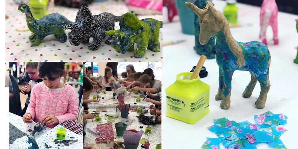 Decopatch Unicorns & Dinosaurs at The Creative Coffee Hub