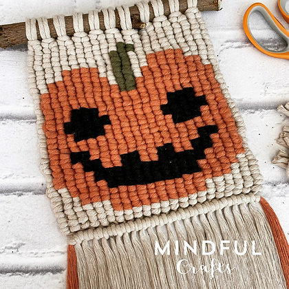 Macramé Pumpkin wall hanging kit