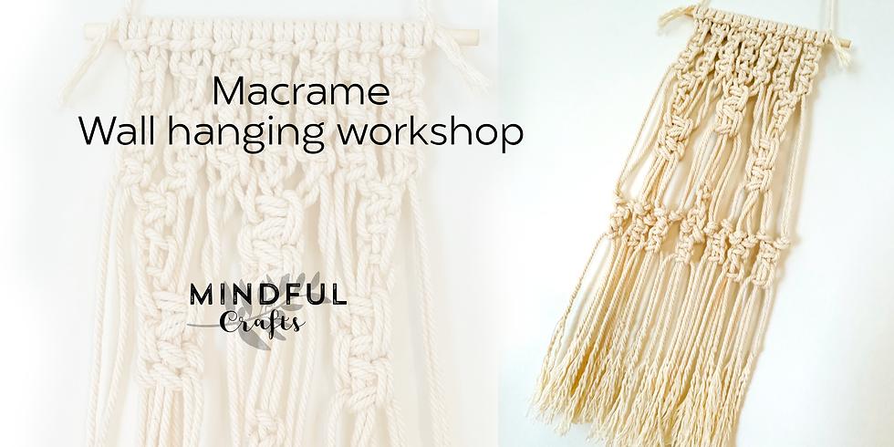Macrame wall hanging workshop at The Creative Coffee Hub