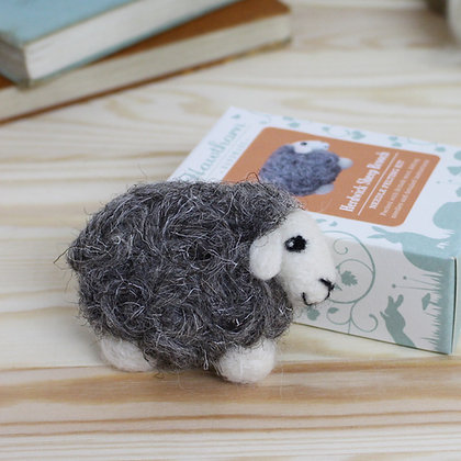 Herdwick Sheep Brooch Needle Felting Kit - Hawthorn Handmade