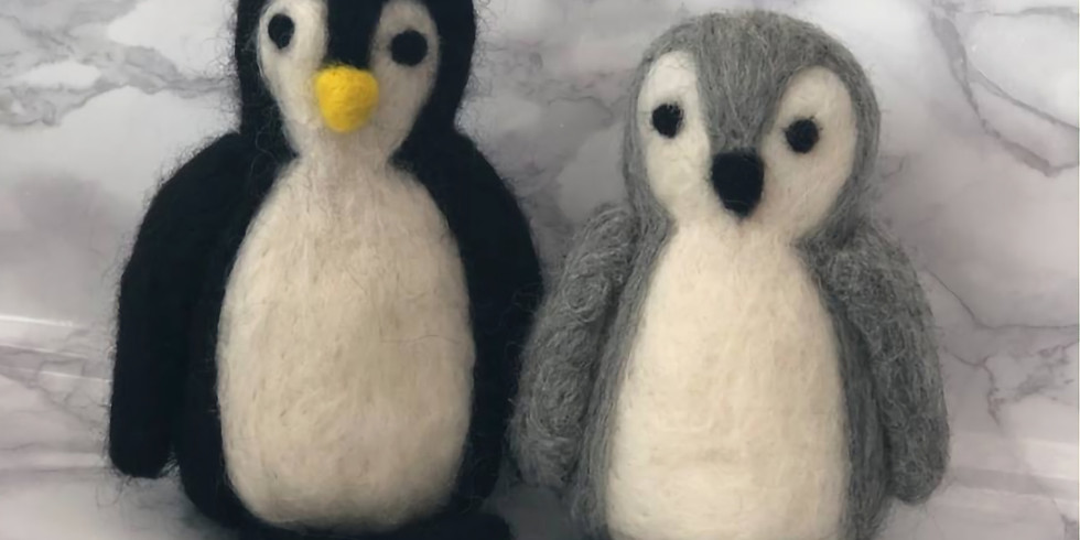 Penguin Needle Felting Workshop at The Creative Coffee Hub