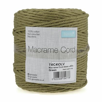 Trimits TMC4\OLV Macramé Cord: 87m x 4mm: 0.5kg: Olive