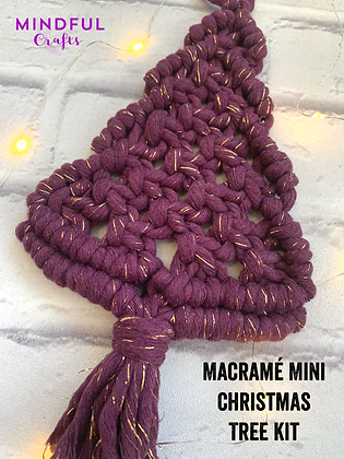 Mini Macramé Christmas Tree kit