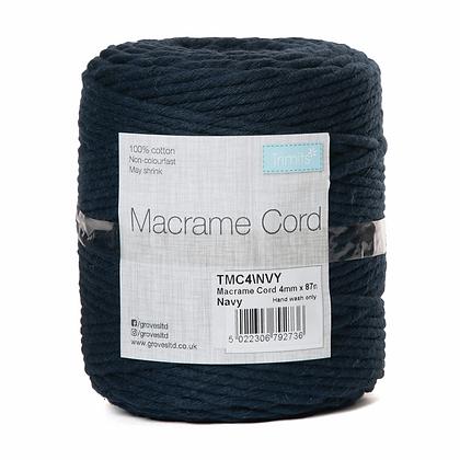 Trimits TMC4\NVY Macramé Cord: 87m x 4mm: 0.5kg: Navy