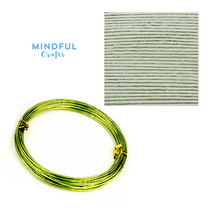 Knitted Wire word wall art refill pack - Mint