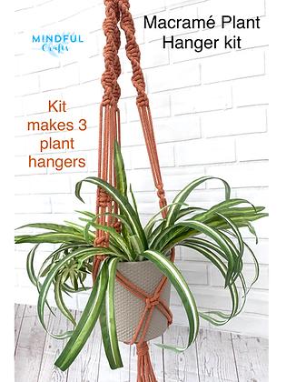 Macramé Plant Hanger Kit - makes 3!