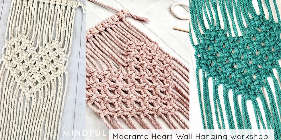 Macrame Heart Wall Hanging workshop