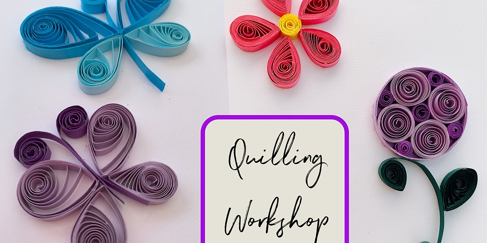 Quilling workshop at Hobbycraft, Solihull