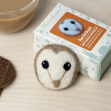 Barn Owl Brooch Kit - Hawthorn Handmade