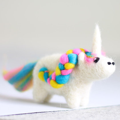 Unicorn Mini Needle Felting Kit - Hawthorn Handmade