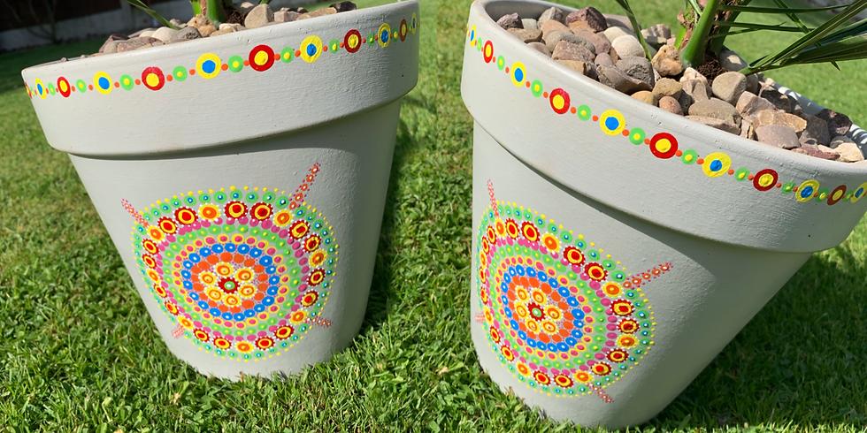 Mandala Pot Painting at The Creative Coffee Hub