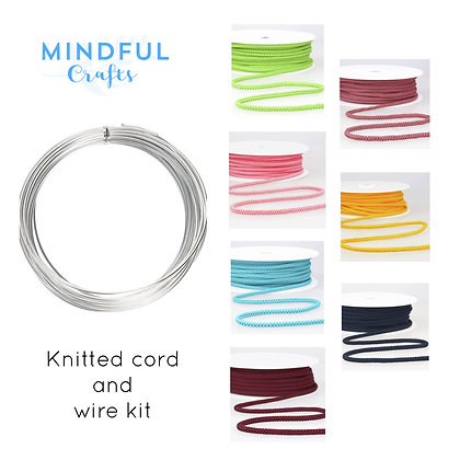 Wire words kit - Knitted cord and wire kit